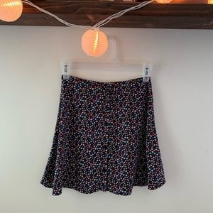 Divided H&M  Floral button up mini skirt